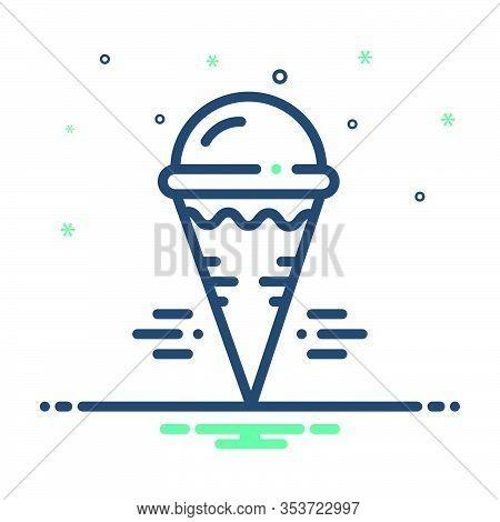Mix Icon For Cream-cone Cream Cone Icecream Refreshing