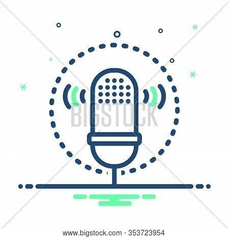 Mix Icon For Voice-recognition Voice Recognition  Voice Waves