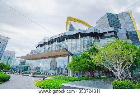Bangkok, Thailand - 26 June, 2019: Exterior View Of Icon Siam At River Side. Icon Siam Is The New Sh