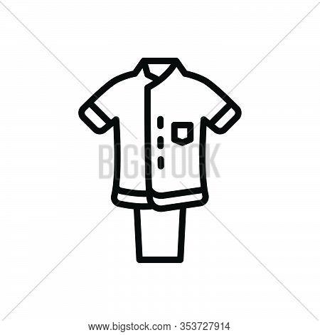Black Line Icon For Uniform Dress Costume Attire Toilette Habiliments Vestment Clothes Raiment Garme