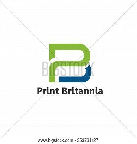 Pb Logo Simple And Minimalist Vector Templates