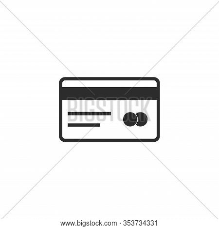 Credit Card Icon. Illustration Credit Card Isolated On White Background.