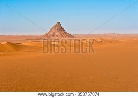 Sahara Landscape With Goat Herd - Silence, Vastness, Lonliness