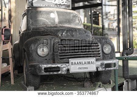Patong, Phuket Thailand, January 5, 2020: Patong, Phuket Thailand, January 5, 2020: Old Rusty Pickup