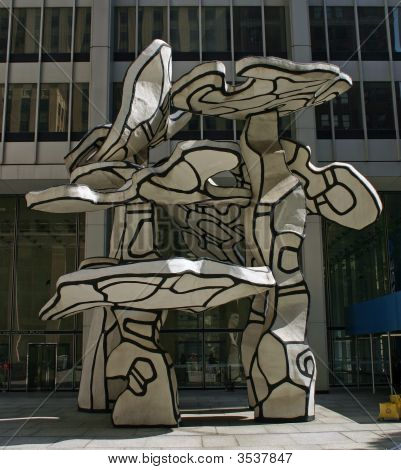 A sculpture in the financial district of New York City poster