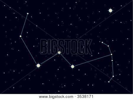 Vector Illustration Of Constellation \