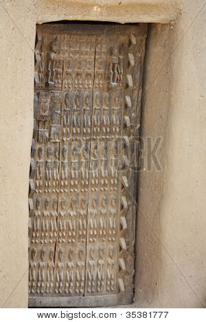 Dogon Door in Dogonland, West Africa