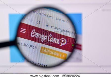 Homepage Of Bongacams Website On The Display Of Pc, Url - Bongacams.com.
