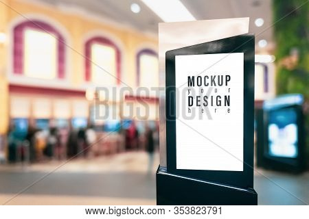 Mockup Blank Empty Advertising Light Box For Your Advertisement Artwork, Text Or Media Content With