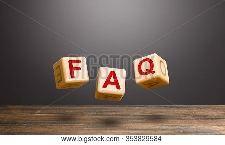 Wooden Blocks Make Word Abbreviation Faq (frequently Asked Questions). Convenient Form Of Answers Ex