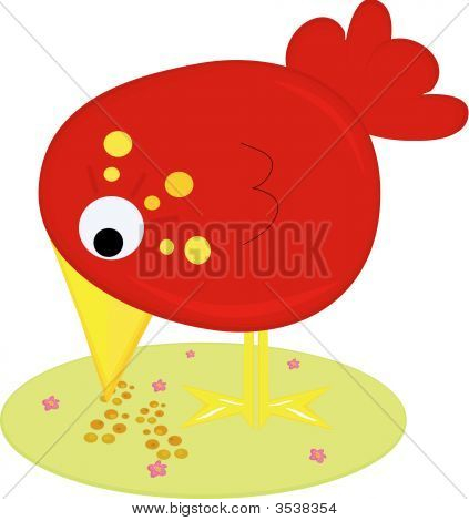 Cute Red Birdie