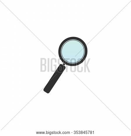 Magnifying Glass Icon. Lupe Optical Instrument. Zoom Button. Search Concept. Stock Vector Illustrati