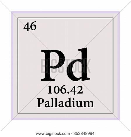 Palladium Periodic Table Of The Elements Vector Illustration Eps 10