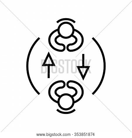 Sharing Expirience Line Icon, Concept Sign, Outline Vector Illustration, Linear Symbol.
