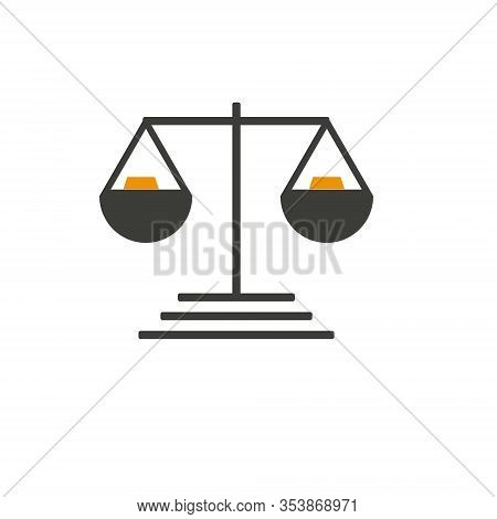Simply Weight Icon. Compare Logo Symbol. Scales Judgment Pictogram. Ui Comparison Element. User Inte