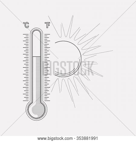 Meteorology Icon Line Element. Vector Illustration Of Meteorology Icon Line Isolated On Clean Backgr