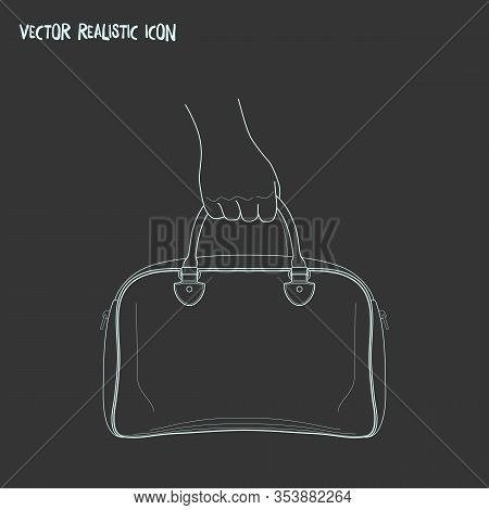 Hand Baggage Icon Line Element. Vector Illustration Of Hand Baggage Icon Line Isolated On Clean Back