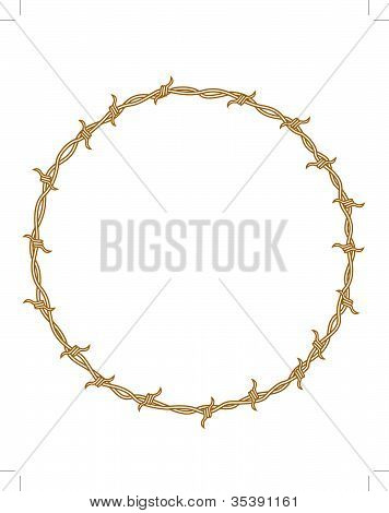 Barbed Wire Frame Circle Clip Art