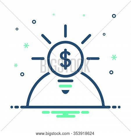 Mix Icon For Opportunities Career Finance Money