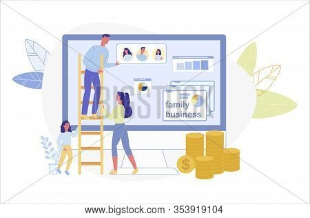 Common Family Efforts To Build Successful Business Altogether Step By Step, Like Climbing Stairs. Fa