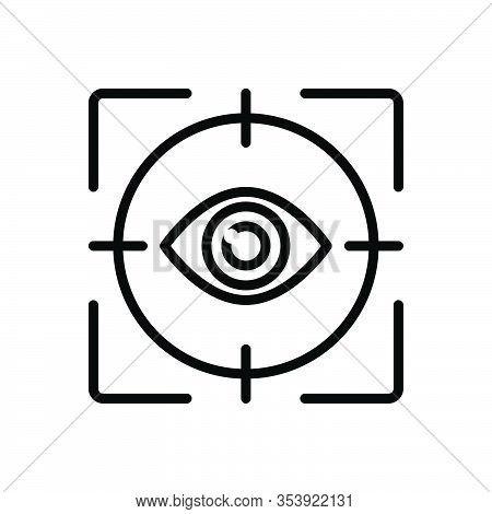 Black Line Icon For Gaze Stare Ogle Inspection Look-up Gape-at Seeing Fish-eye Looking Look Peep Pee