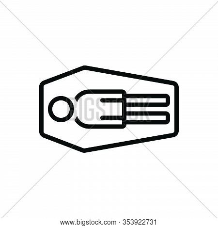Black Line Icon For Dead Coffin Deceased Departed Lifeless Late Inanimate Killed Recondite Asleep Ca