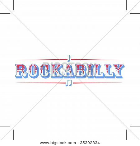 Rockabilly Lettering Sign