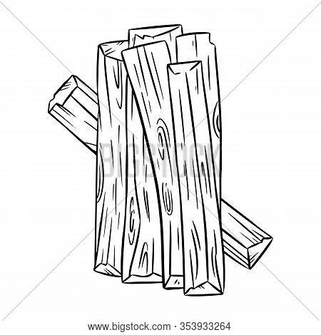 Palo Santo Holy Wood Tree Aroma Sticks From Latin America. Smudge Burning Incense Bundle Image