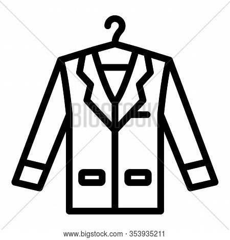 Groom Coat Icon. Outline Groom Coat Vector Icon For Web Design Isolated On White Background