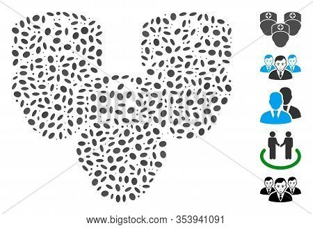 Dotted Mosaic Based On Consultation Medic Group. Mosaic Vector Consultation Medic Group Is Designed