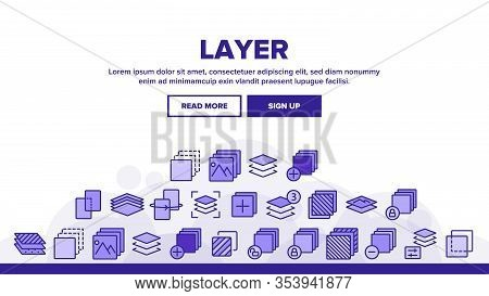 Layer Protect Material Landing Web Page Header Banner Template Vector. Coating And Cover, Thickness