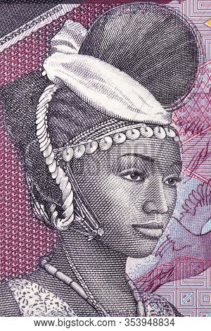 Woman A Portrait From Guinean Money - Franc