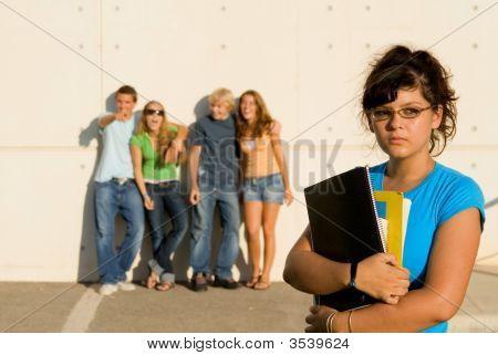 Schule Schläger, traurig lonely student