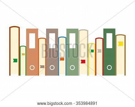 Stack Of Books And Folders For Papers, Primitive