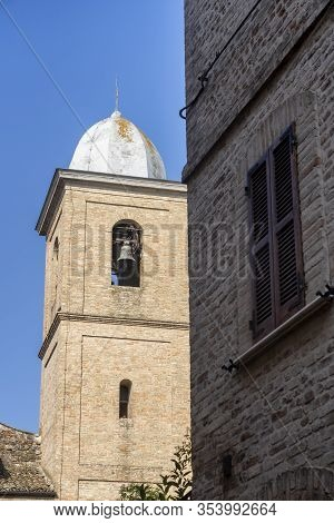 Ripatransone, Ascoli Piceno, Marches, Italy: Typical Street Of The Historic Town At Morning