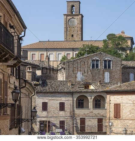 Ripatransone, Ascoli Piceno, Marches, Italy: View Of The Historic Town At Morning