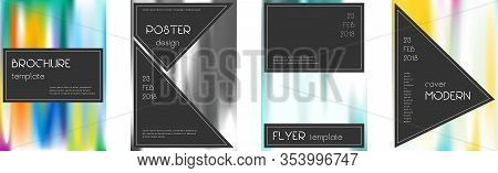 Flyer Layout. Black Ecstatic Template For Brochure, Annual Report, Magazine, Poster, Corporate Prese