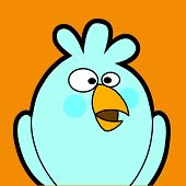 Bird colorful icon. Use for avatar or your profile picture. Easy to edit. poster