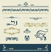 Set vectors art nouveau - lots of useful elements to embellish your layout poster