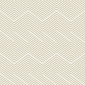 Golden Vector Geometric Seamless Pattern. Modern Graphic Texture With Lines, Stripes. Simple Abstrac