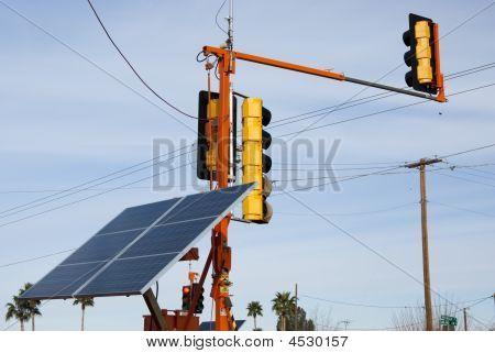 Solar Powered Traffic Lights