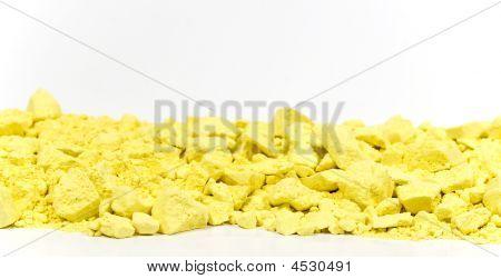 Horizontal Border, Yellow Chalk