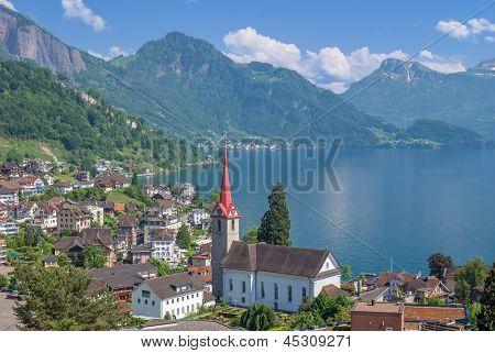 Weggis,Lake Lucerne,Switzerland,