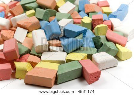Mixed Group Of Colored Chalk