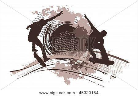 Two Skateboarders