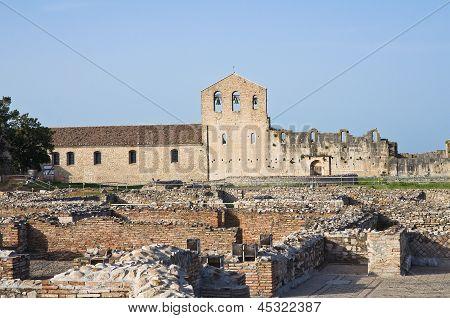 Church of SS. Trinity. Venosa. Basilicata. Italy.