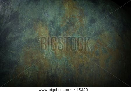 Green Copper Metal Background