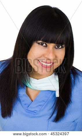 Latin Medic Woman Smiling