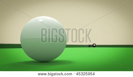 Eight Ball Next To Corner Pocket