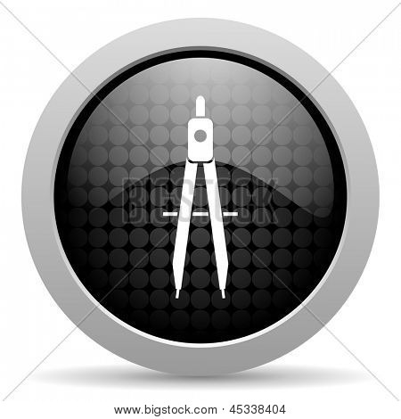 e-learning black circle web glossy icon